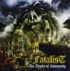 FATALIST - the depths of inhumanity LP+CD yellow black marbled