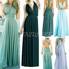 New Women Bridemaid Backless Multi Way Wrap Evening Party Full Length Maxi Dress