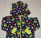 TCP GIRLS 1PC HEARTS 3D EARS HOODED FLEECE FOOTLESS PAJAMAS 4 XS VALENTINE'S DAY