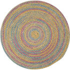 Tropical Garden Round Braided Rug, Kiwi ~ Made in USA