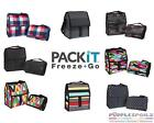 NEW PACKIT FREEZABLE LUNCH BAGS Freezer Lunchbag Cooler Picnic School 8 DESIGNS