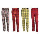S/S Mens Solid Golf Wear Outdoor Pants Check, Stripe Trousers (11 Type)