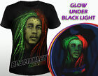 Bob Marley - women's tshirt Glow under UV Reggae dub rap rnb rasta music clothes
