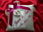 PERSONALISED wedding ring cushion/pillow 86 colours!!! Any LANGUAGE-20cm x20cm