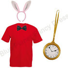 MENS ADULTS WHITE RABBIT FANCY DRESS COSTUME WORLD BOOK WEEK DAY