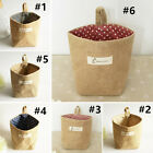 New Stripe Small Storage Sack Cloth Hanging Non Woven Storage Bins Basket Bag