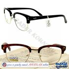 READING GLASSES Men RETRO BROWLINE METAL READERS SPECS moXie 1.25~2.50 HOT ITEM