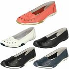 Down To Earth Ladies Flat Comfort Ballerina Shoes - Style 205