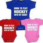 BabyPrem Clothes Hockey Sports Ice Daddy Bodysuits Vests One-Piece Shower Gifts