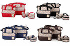 5pcs Baby Changing Diaper Nappy Tote Bag Mummy Mother Multifunctional Handbag US