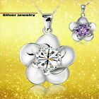Silver Flower Jewelry (Silver925) Very Beautiful Gorgeous Necklace Cute Gift Mom