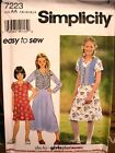 Simplicity 7223 Girls / Girls Plus Dress MANY SIZES OOP VINTAGE