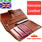 Leather Travel Wallet Multi Passport Boarding Pass Ticket Cash Fast Shipping