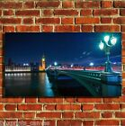 LONDON SKYLINE BRIDGE CANVAS WALL ART BOX PRINT PICTURE SMALL/MEDIUM/LARGE
