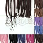 10pcs Korean Suede Necklace Ribbon Cord Clasps Chain Jewellery Beading 1.7x2.6mm