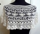 New Crochet Cotton Mini Cape Poncho Free Size FIT S / M Beige F729