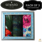 3x LADIES PREMIER SEWARD Floral Handkerchiefs 100% COTTON Hanky Gift Box 14426
