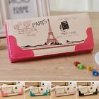 PU Leather PARIS Style Wallet Holder Clutch Card Bag Fashion Handbag Long Purse