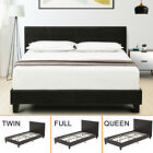 Kyпить Twin Full Queen Faux Leather Platform Bed Frame & Slats Upholstered Headboard на еВаy.соm