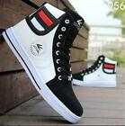 Men's 3Colors Shoes Round Toe High Top Sneakers Casual Lace Up Skateboard Shoes