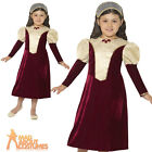 Child Tudor Damsel Princess Costume Girls Medieval Book Day Fancy Dress Outfit