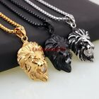 Hot Sell Men's Jewelry Strong Stainless Steel Lion Zircon Pendant Free Necklace