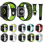 Silicone Wrist Sport Band Strap Replacement For Apple Watch iWatch 38/42mm