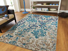 Kyпить Modern Rugs Blue Gray Area Rug 8x10 Living Room Carpet 5x8 Chrysanthemum Rugs 2x на еВаy.соm