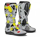 Sidi | Crossfire 3 Srs Boots Black Grey Yellow Fluo Motorcycle Mx Motocross Offr