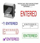 SELF INKING ENTERED RUBBER STAMP OFFICE SCHOOL BUSINESS ACCOUNTS SHOP BUSINESS