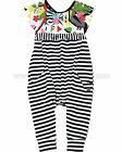 Deux par Deux Girls' Jumpsuit Jungle Pop, Sizes 5-12