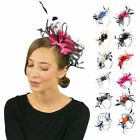 Bespoke Feather Hair Fascinator Headband Hairband Wedding and Royal Ascot Races