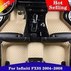 Yes Car Floor Mat Front & Rear Liner Leather Y2R3 For Infiniti FX35 2004-2008