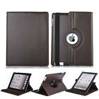Luxury 360 Rotating Soft Leather Flip Stand Case For iPad 2/3/4 Mini 1/2/3 Air 2