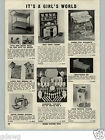 1955 PAPER AD Toy Play Worchester Life Size Tea Set Little Chef Electric Stove