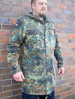 Original German Army Parka / Hooded Jacket ALL SIZES Camo Flecktarn Combat
