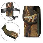 REIKO Camouflage Vertical Canvas Clip Case for Cell Phone With Otterbox Achiever