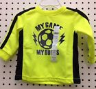 Koala Baby Sport Themed Graphic Top MY GAME MY RULES Yellow 3/6 Mo 6/9 Mo (F-8)