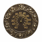 """Rose 12"""" Indoor/Outdoor Wall Thermometer"""
