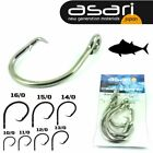 "ASARI HEAWY DUTY STAINLESS OFFSET CIRCLE HOOK ""TUNA"""