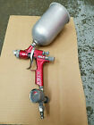 Binks M1-G HVLP Auto Body Paint Gravity Feed Spray Gun Aluminum Cup Regulator