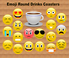 EMOJI ROUND DRINKS COASTER HAPPY FACE BIRTHDAY EASTER CHRISTMAS GIFT IDEA