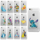 Hot Chic Watercolor Cartoon Animation Disney Mickey Princess TPU Case For iPhone