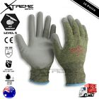 Super Shield PU Cut Resistant Safety Work Gloves Hand Protection PPE 12 Pairs