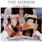 Handmade DIY Bling Diamond Rhinestone Ring Holder Mirror Case For Xiaomi Models