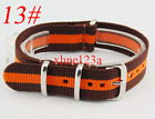 18mm Nylon Watch Strap Army Watchband Fiber Woven Wristwatches Bands Band Strap