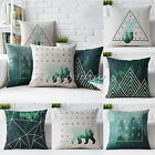 Vintage Animal Deer Tree Linen Cushion Cover Throw Pillow Cases Car Home Decor