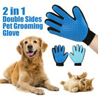2 in 1 Dual Side Dog Cat Grooming Brush Glove Deshedding Furniture Hair Remover
