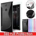 GEL CASE & 100% GENUINE TEMPERED GLASS SCREEN PROTECTOR COVER FOR SONY EXPERIA
