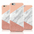 Glitter White Rose Gold Pink Marble Case Cover Gel For IPhone 5/5S/6/6S